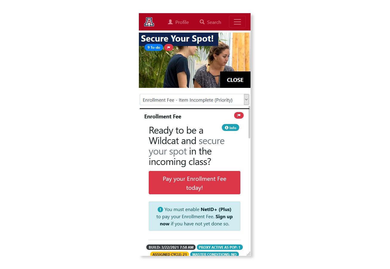 Screenshot of Next Steps Center Mobile Ready
