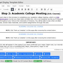 Screenshot showing editing interface in NSC