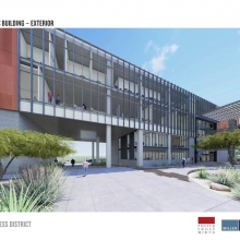 Student Success District exterior rendering